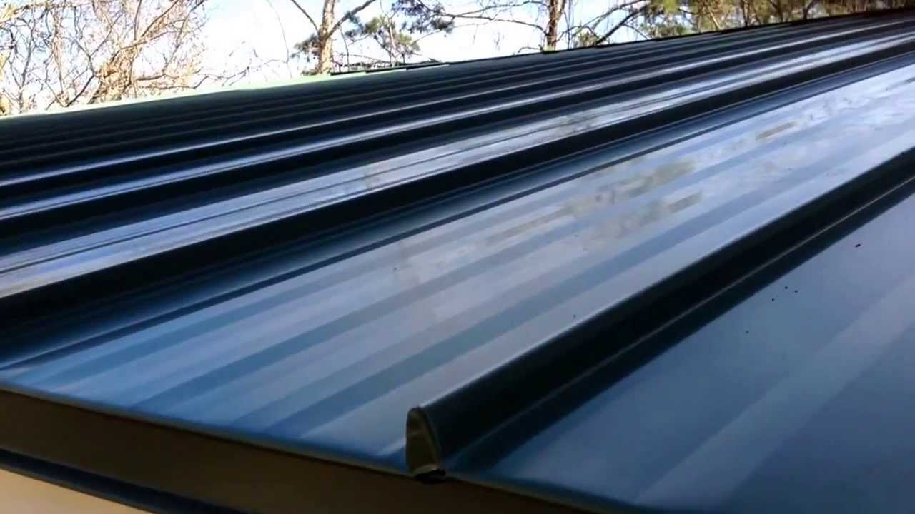 Standing Seam Eave Amp Rake Trim Installation Youtube