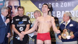 ROAR!!! ANTHONY CROLLA v ISMAEL BARROSO - OFFICIAL WEIGH IN & HEAD TO HEAD / DANGER ZONE