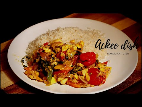 Ackee And Saltfish Recipe With Coconut Rice | How To Cook Ackee & Saltfish In Pot Jamaican Dish !!