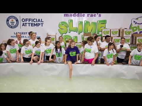 Maddie Rae's World's Largest Slime Photo Slideshow- 13,820 pounds!