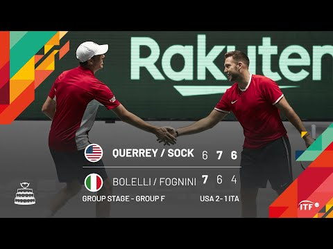 Querrey / Sock v Bolelli / Fognini - USA v Italy Match 3 Highlights Doubles Group F