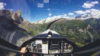 Vol en ULM Tecnam au dessus du Mont-Blanc [GoPro]