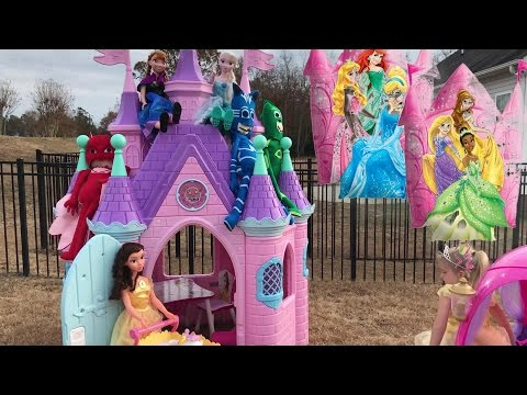 Disney Princess Castle Compilation Video Brooke and Azlynn Show