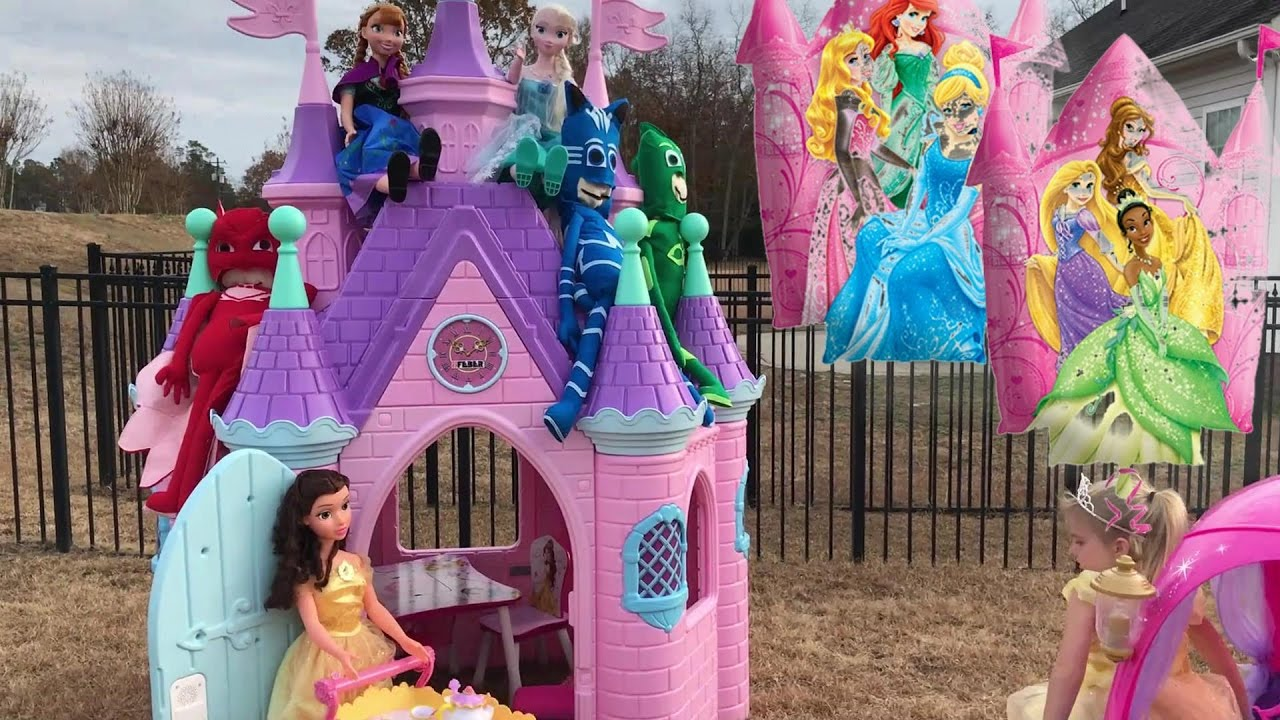 Disney Princess Castle Compilation Video Brooke And Azlynn