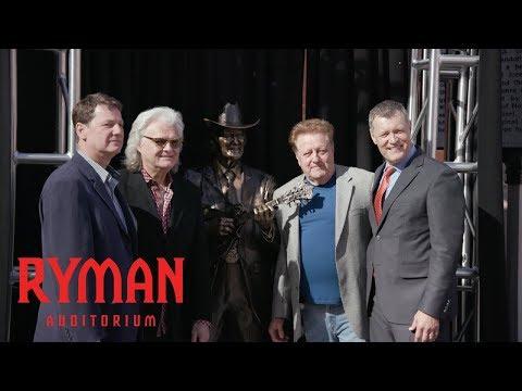 Little Jimmy Dickens & Bill Monroe Statues Installed for Ryman 125 | Ryman Auditorium