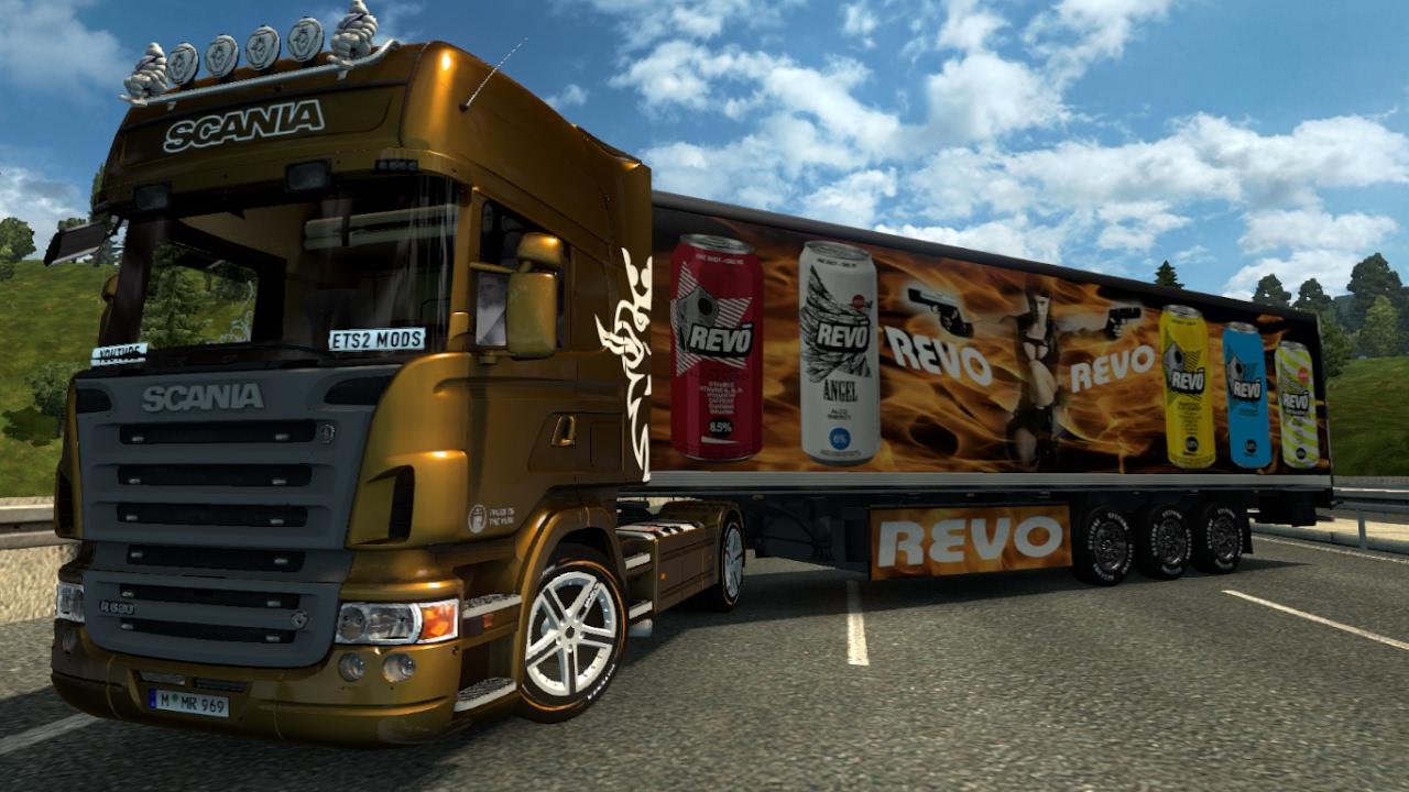 V8 illegal reworked truck v5 0 simulator games mods download - Scania R2008 Old Trailer Pack Energy Drink 1 26 Ets2 Euro Truck Simulator 2 Free Download Youtube