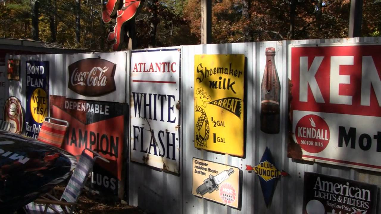 Collection Of Antique Advertising Signs