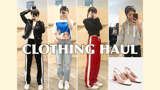 [其恩酱] 购物分享来也❤️ 显高穿搭又是啥?zara| topshop| mango| UO| adidas| clothing try-on haul ✌🏻