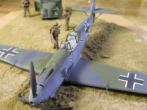 Building Airfix Messerschmitt Bf109E-4 in 1/72. From Start to Finish. Battle of Britain Pt 3.