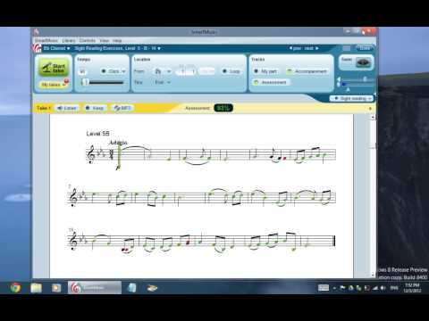 Sightreading in SmartMusic