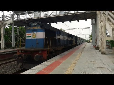 DIiesel action at MPS 16613 Rajkot-Coimbatore Exp with Erode WDG-3A #13514
