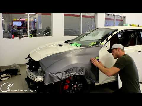 How To Vinyl Wrap With Brushed Metal On A Honda Civic Typer R  By @ckwraps