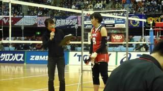 都築有美子 島村春世 勝利インタヴュー バレーボール V・プレミアリーグ 平成26年2月22日