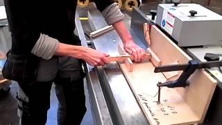 Réalisation de tourillon en bout de pièce à la toupie