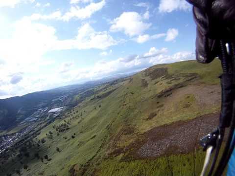 Paragliding at Merthyr Tydfil, South Wales