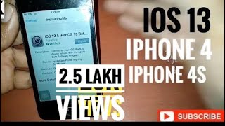 How To Install iOS 13.4  beta | iPhone 4/4S| First-c update 12.4 version Then Try this iOS 13 ||