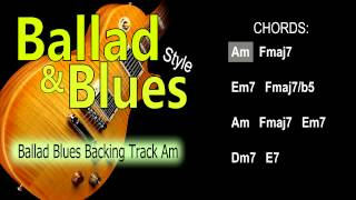 Ballad & Blues (Gary Moore Style) Guitar Backing Track Am 60 Bpm Highest Quality