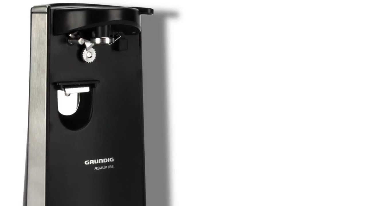 Grundig Electric Can Opener W Knife Sharpener Youtube