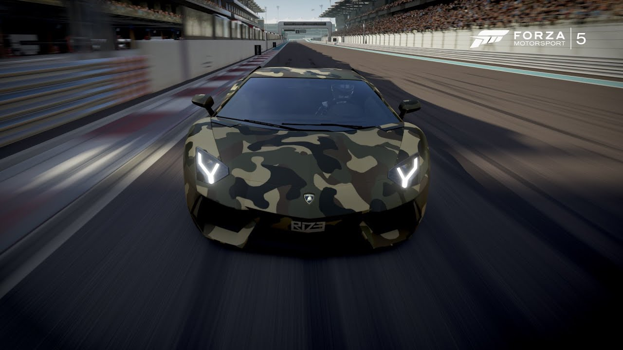 Forza 5: Lamborghini Aventador Camouflage - YouTube on hummer h1 camouflage, lamborghini gallardo reventon kit, jeep wrangler camouflage, lamborghini gallardo camouflage, lamborghini cars camouflage, lamborghini camo cars,