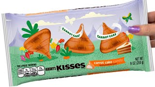 Hershey's Kisses Carrot Cake Unwrapping Taste test
