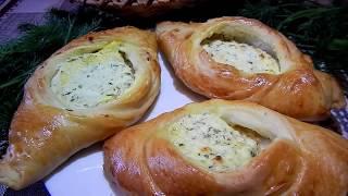 """Пирожки """"Лодочки"""" с творогом и укропом I Pies with cottage cheese and dill"""