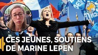 Ces jeunes à fond derrière Marine Le Pen