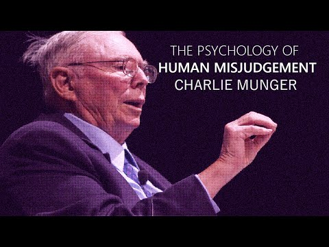 The Psychology of Human Misjudgment | 25 Cognitive Biases | Charlie Munger x Harvard University