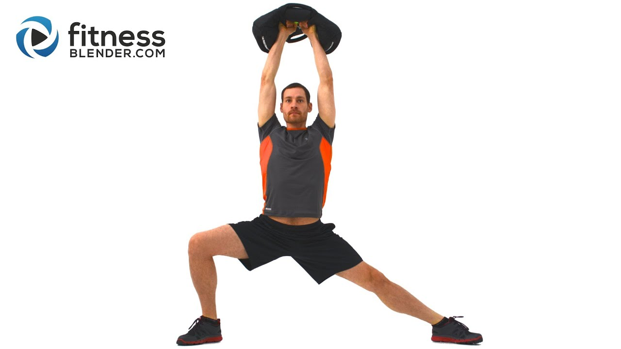 Total Body And Core Sandbag Workout 40 Minute Strength Endurance Interval