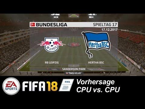 RB Leipzig - Hertha BSC | Bundesliga Prognose 17. Spieltag | FIFA18 Vorhersage CPU vs. CPU