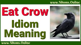 Idiom Meanings: Eat Crow