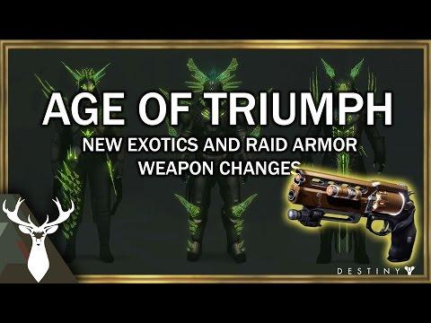 Rise of Iron: Age of Triumph - New Exotics, Raid Armor, and Sandbox Changes