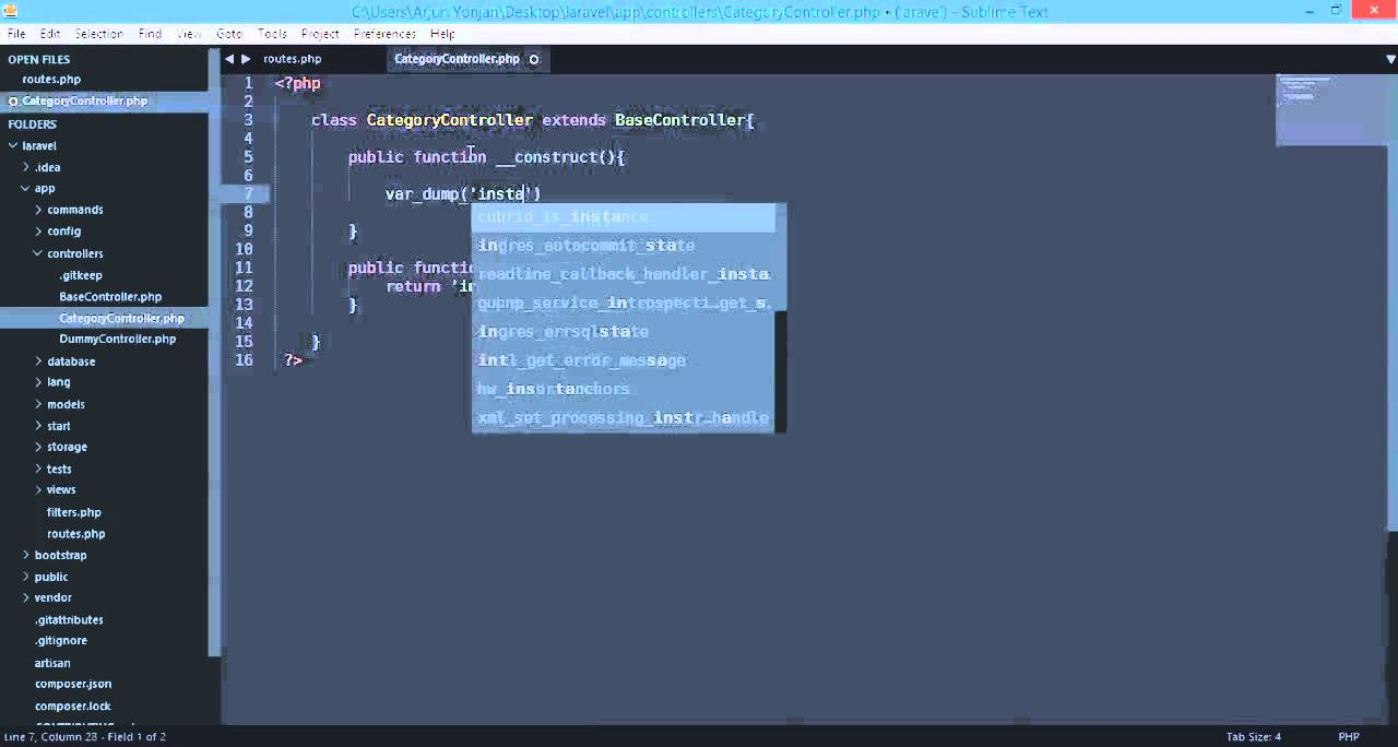 laravel 4 filter CSRF filter within the CategoryController instead of route