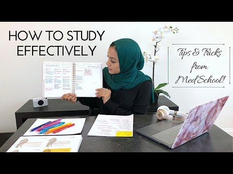 HOW TO STUDY EFFECTIVELY: Tips&Tricks from Med School