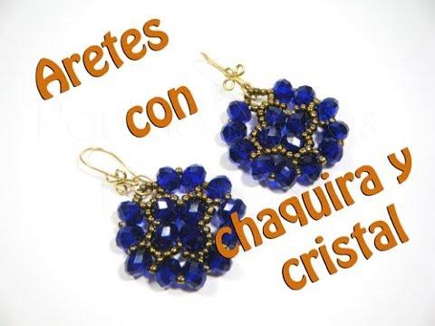03920c23173f Aretes con chaquira y cristal - Лучшие приколы. Самое прикольное ...