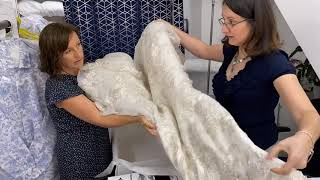 How to box a wedding dress