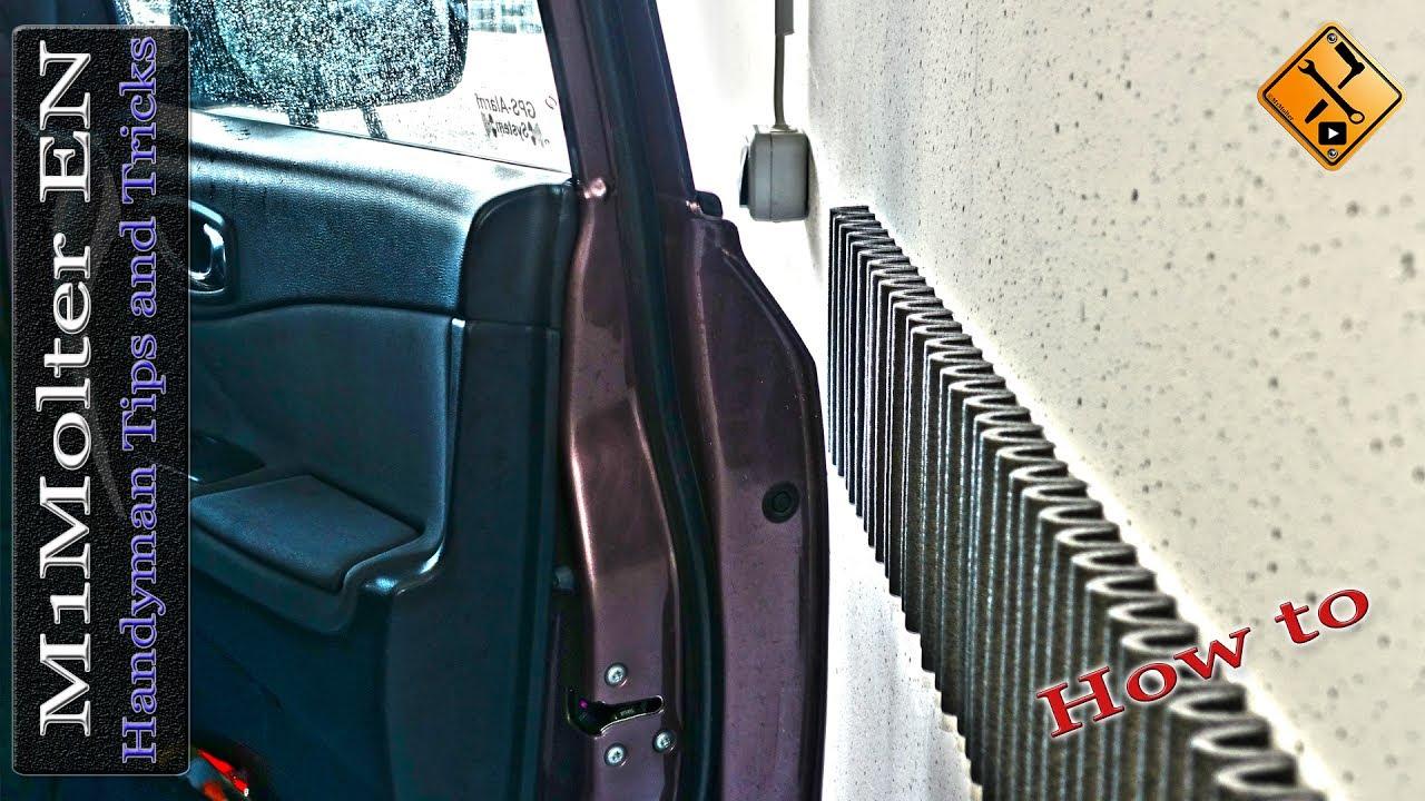 Protect your car door from hitting the garage wall youtube protect your car door from hitting the garage wall rubansaba