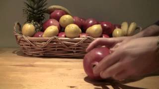 How to Squish Pomegranates on a Table -- ASMR -- Crunching, Cracking, Soft-Spoken, Male