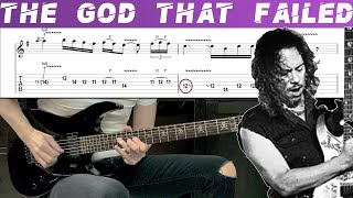 METALLICA - THE GOD THAT FAILED (Guitar cover with TAB) видео