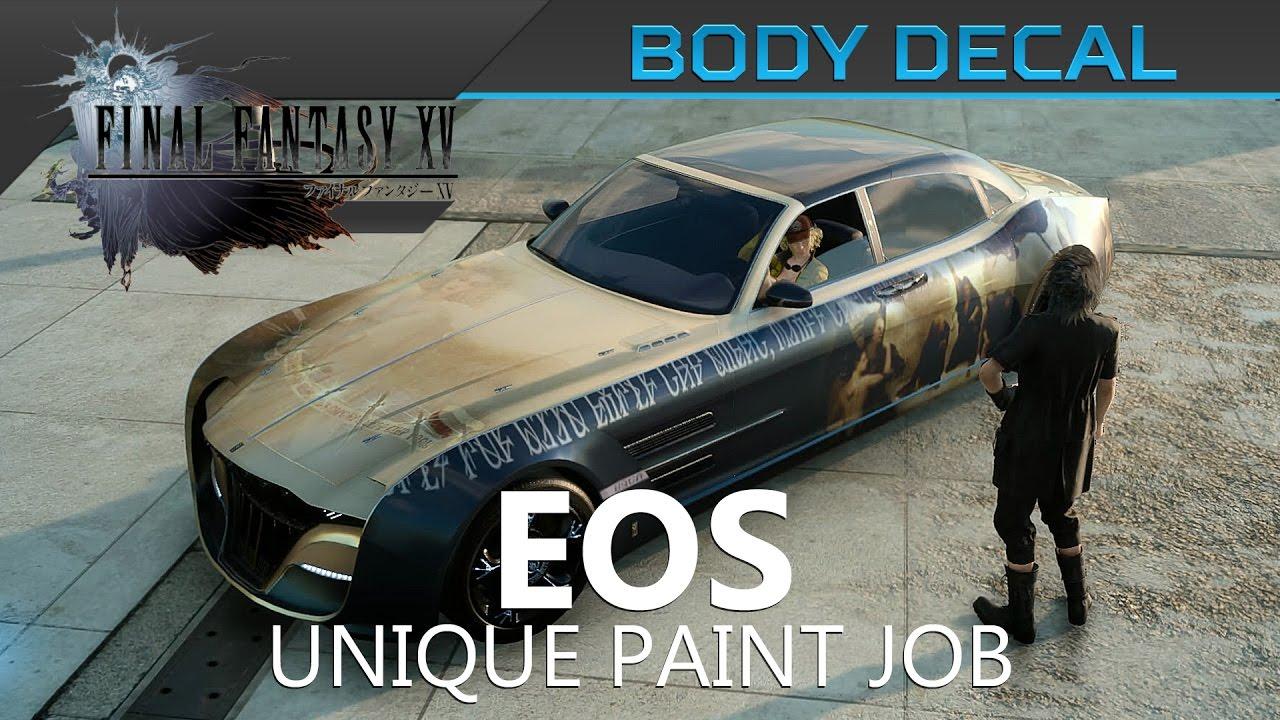 Car Sticker Locations - Final fantasy xv eos body decal location showcase