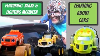 Learning about cars with Lightning McQueen & Blaze Toys - The Boflet Show  - Learning for children