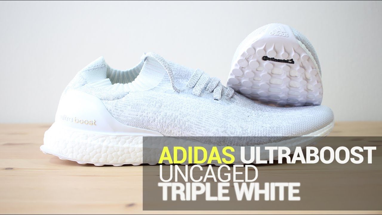 info for b39e6 5d94d Adidas Ultra Boost Uncaged Triple White - Unboxing, On Feet,   Overview