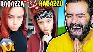 Girls Turn Into Boy CHALLENGE BoyChallenge - REAZIONE ALLE PIU