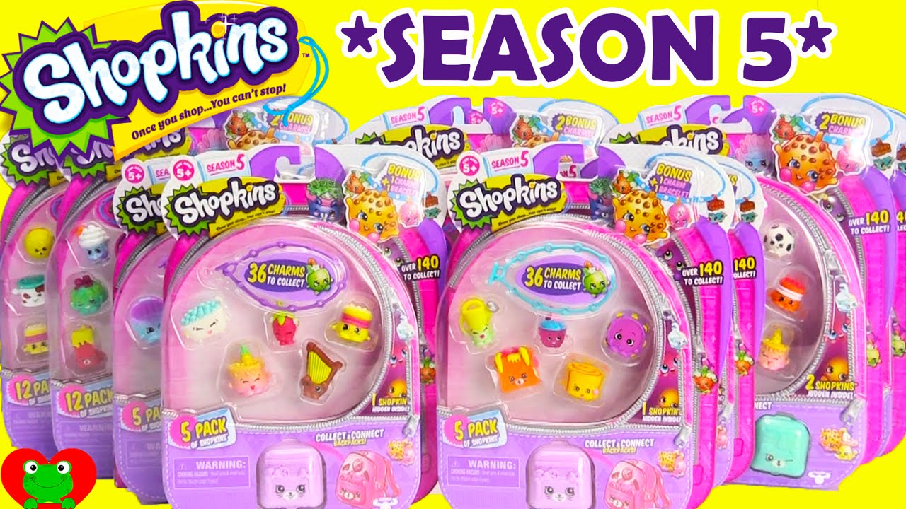 Shopkins SEASON 5 12 Packs and 5 Packs with ELECTRIC GLOW. Toy Genie  Surprises