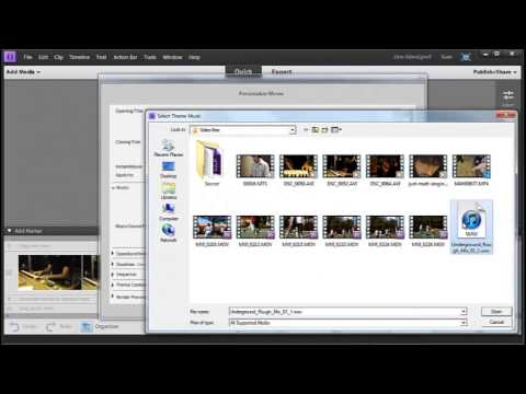 instant movie with adobe premiere elements 11 youtube