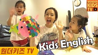 [kids english] learn colors with Rainbow fish 색깔 배우기 무지개 rainbow fish learn colors
