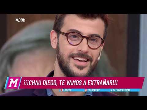 Diego Leuco se emocionó hasta las lágrimas al despedirse para siempre de DDM