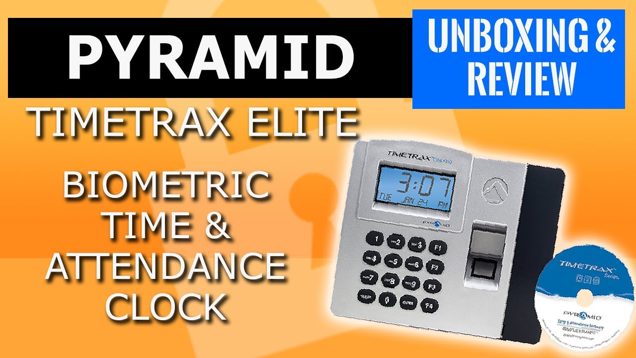 Pyramid TimeTrax Elite Biometric Time & Attendance Timeclock -Small  Business management software 👍