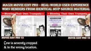 Magix Movie Edit - SAME Footage, DIFFERENT Renders