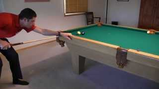 """Mirror Kick-Shot Aiming System - from """"How To Aim Pool Shots (HAPS)"""" - NV E.7"""