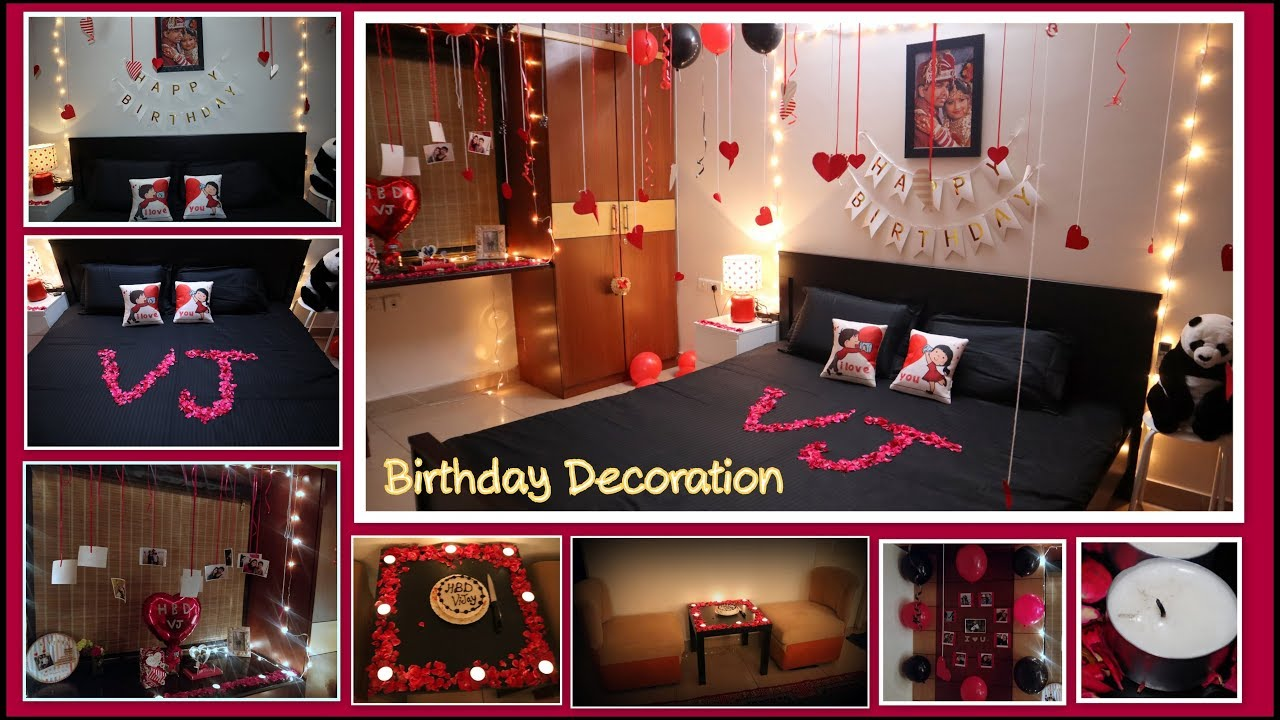 Birthday Decoration Ideas at home |Surprise Decoration for ...